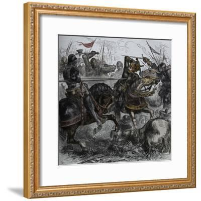 'Richard III at Bosworth', 22 August 1485, (c1880)-Unknown-Framed Giclee Print