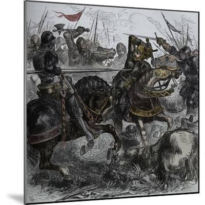 'Richard III at Bosworth', 22 August 1485, (c1880)-Unknown-Mounted Giclee Print