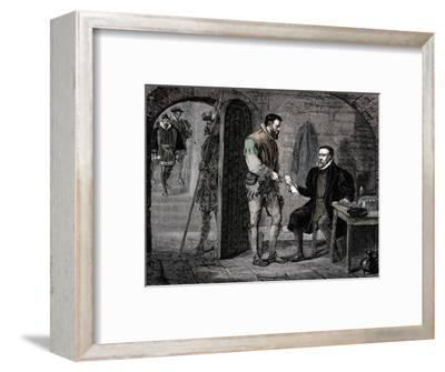 William Tyndale, English translator, 1536 (late 19th century)-Unknown-Framed Giclee Print