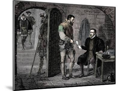 William Tyndale, English translator, 1536 (late 19th century)-Unknown-Mounted Giclee Print