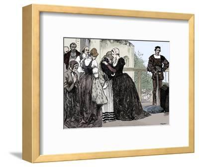 The execution of Anne Boleyn, 1536-Unknown-Framed Giclee Print