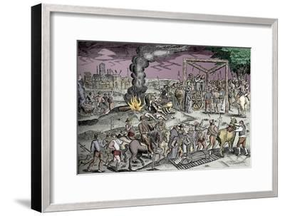 Martyrs at Smithfield, London, c1600 (1904)-Unknown-Framed Giclee Print