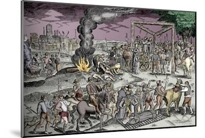Martyrs at Smithfield, London, c1600 (1904)-Unknown-Mounted Giclee Print