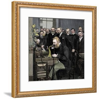 Alexander Graham Bell (1847-1922), Scottish-born American inventor-Unknown-Framed Giclee Print