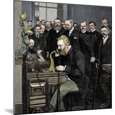 Alexander Graham Bell (1847-1922), Scottish-born American inventor-Unknown-Mounted Giclee Print