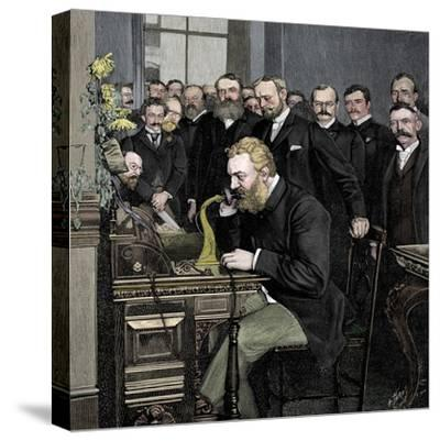 Alexander Graham Bell (1847-1922), Scottish-born American inventor-Unknown-Stretched Canvas Print