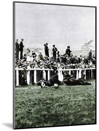 Emily Davison throwing herself in front of the King's horse during the Derby, Epsom, Surrey, 1913-Unknown-Mounted Photographic Print