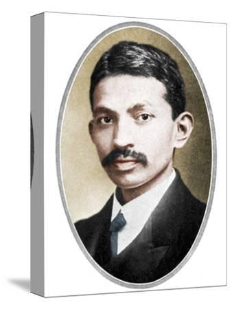 Mohondas Karamchand Gandhi (1869-1948), as a young man-Unknown-Stretched Canvas Print