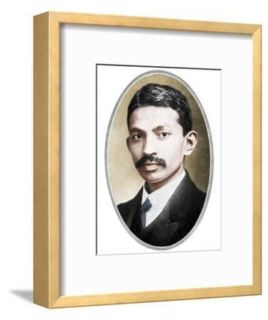Mohondas Karamchand Gandhi (1869-1948), as a young man-Unknown-Framed Photographic Print