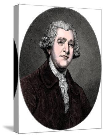 Josiah Wedgwood, 18th century English industrialist and potter, c1880-Unknown-Stretched Canvas Print