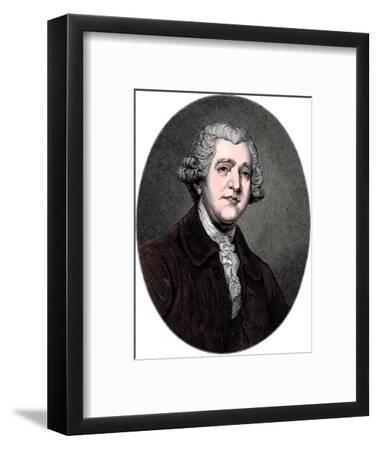 Josiah Wedgwood, 18th century English industrialist and potter, c1880-Unknown-Framed Giclee Print