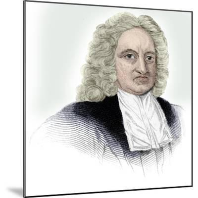 Edmond Halley, English astronomer, mathematician, meteorologist, and physicist, (c1850)-Unknown-Mounted Giclee Print