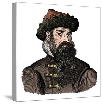 Johann Gutenberg, German metalworker and inventor, 16th century, (1870).-Unknown-Stretched Canvas Print