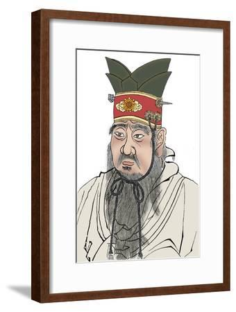 Confucius (551-479 BC), Chinese philosopher. From a rubbing of a marble slab in a Confucian temple-Unknown-Framed Giclee Print