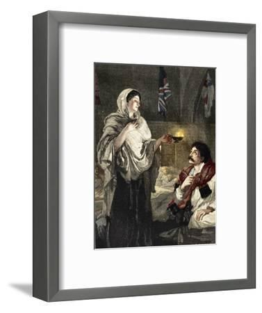 'The Lady with the Lamp', c1880-Unknown-Framed Giclee Print