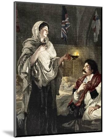 'The Lady with the Lamp', c1880-Unknown-Mounted Giclee Print