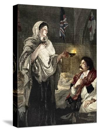 'The Lady with the Lamp', c1880-Unknown-Stretched Canvas Print