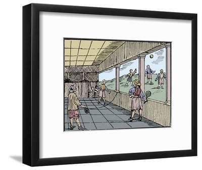 Young men playing a form of tennis, 16th century-Unknown-Framed Giclee Print
