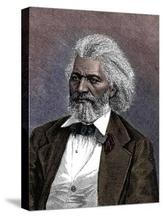 Frederick Douglass (1817-1895), American diplomat, abolitionist and writer, 1875-Unknown-Stretched Canvas Print