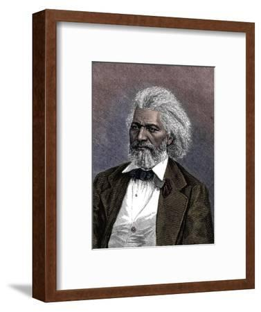Frederick Douglass (1817-1895), American diplomat, abolitionist and writer, 1875-Unknown-Framed Giclee Print