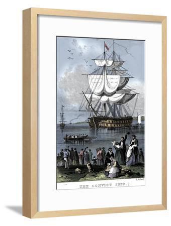'The Convict Ship', c1820-Henry Adlard-Framed Giclee Print