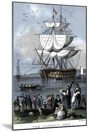 'The Convict Ship', c1820-Henry Adlard-Mounted Giclee Print