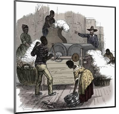 Slave labour on a cotton plantation in the southern states of America, 1860-Unknown-Mounted Giclee Print