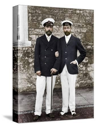 Tsar Nicholas II of Russia and King George V of Great Britain-Unknown-Stretched Canvas Print
