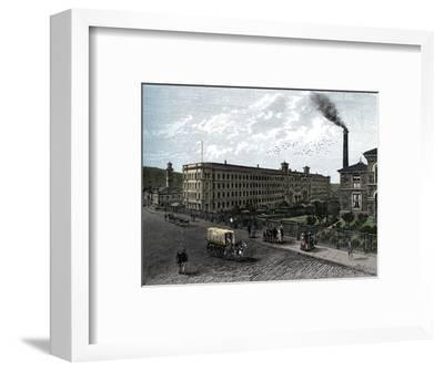 The mill at Saltaire, c1880-Unknown-Framed Giclee Print
