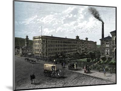 The mill at Saltaire, c1880-Unknown-Mounted Giclee Print