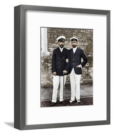 Tsar Nicholas II of Russia and King George V of Great Britain-Unknown-Framed Photographic Print