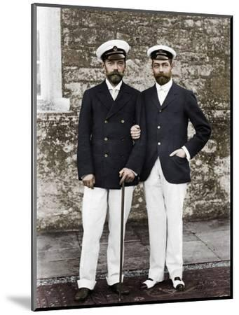 Tsar Nicholas II of Russia and King George V of Great Britain-Unknown-Mounted Photographic Print
