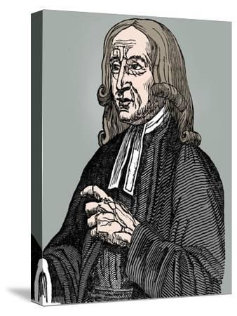 John Wesley, 18th century English non-conformist preacher, 1832-Unknown-Stretched Canvas Print