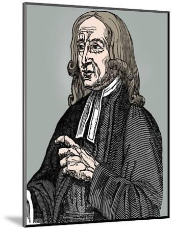 John Wesley, 18th century English non-conformist preacher, 1832-Unknown-Mounted Giclee Print