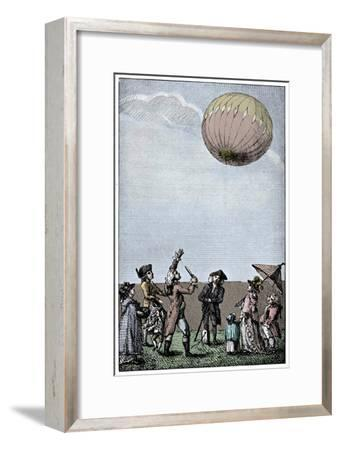 Ascension of a Montgolfier balloon, late 18th century, (1910)-Unknown-Framed Giclee Print