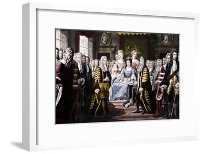 Articles of Union Presented by Commissioners to Queen Anne, 1706-Unknown-Framed Giclee Print