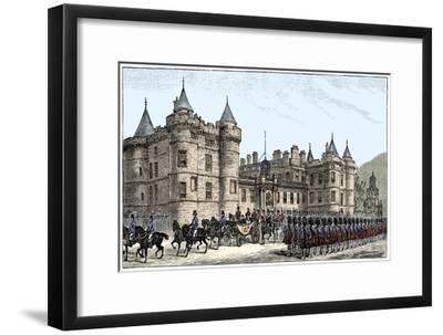 The queen leaving Holyrood Palace, Edinburgh, 1886, (1900)-Unknown-Framed Giclee Print