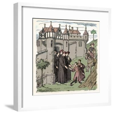 Brothers Polo set out from Constantinople with, Marco for China (c1300), 1912)-Unknown-Framed Giclee Print