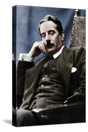 Giacomo Puccini (1858-1924), Italian composer, 1910-Unknown-Stretched Canvas Print
