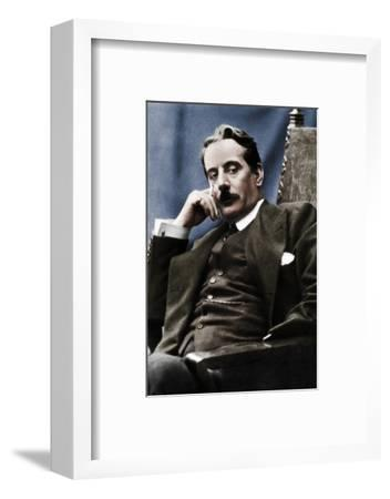 Giacomo Puccini (1858-1924), Italian composer, 1910-Unknown-Framed Photographic Print