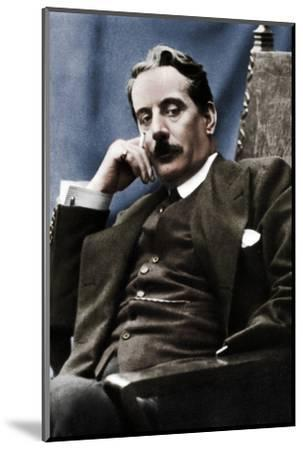 Giacomo Puccini (1858-1924), Italian composer, 1910-Unknown-Mounted Photographic Print