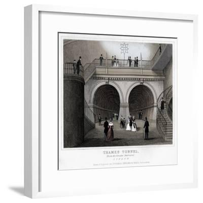 Thames Tunnel, London, 19th century-Unknown-Framed Giclee Print