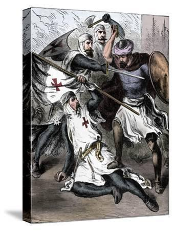 Knights Templar on the Field of Battle, c1910-Unknown-Stretched Canvas Print