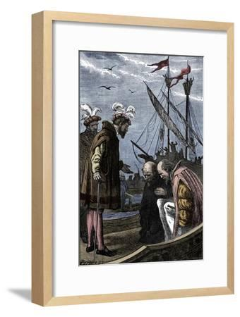 The King Visits Vasco da Gama, 1904-Unknown-Framed Giclee Print