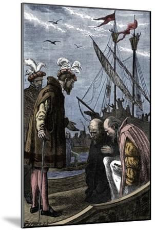The King Visits Vasco da Gama, 1904-Unknown-Mounted Giclee Print