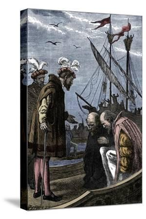 The King Visits Vasco da Gama, 1904-Unknown-Stretched Canvas Print
