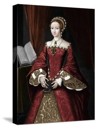 Princess Elizabeth, later Queen', c1547, (1902)-Unknown-Stretched Canvas Print