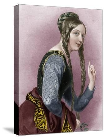Eleanor of Aquitaine, Queen of Henry II of England-Unknown-Stretched Canvas Print
