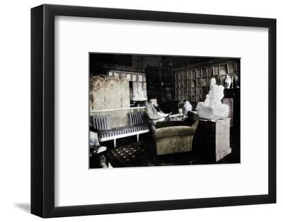 'Auguste Rodin Among His Books At 77 Rue De Varenne', c1900-Unknown-Framed Photographic Print