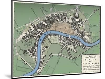 Plan of London and Westminster, 1749 (1903)-Unknown-Mounted Giclee Print